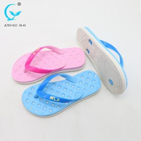 adccac4b0d59 New design wholesale slipper shoes fancy ladies footwear summer ...