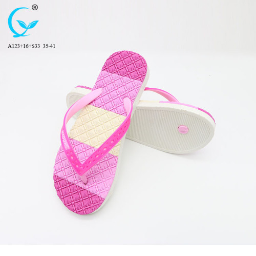 Fancy footwear comfort flat wedges sandals new design wholesale women slipper shoes