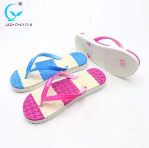 New fashion footwear pvc flip flop slippers gold women fashion sandals