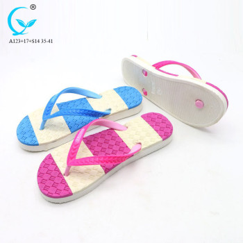 New fashion footwear pvc flip flop slippers gold women fashion sandals