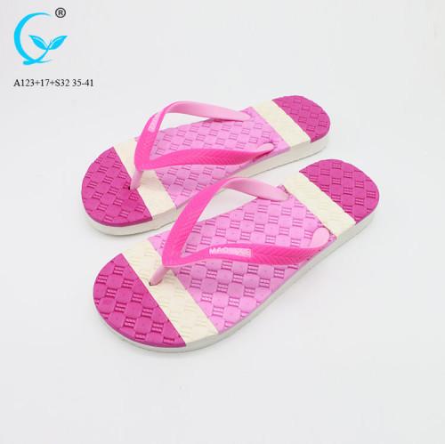 Summer slide slippers monogram strip plastic sliders shoes women sandals 2018