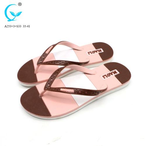 Luxurious pvc slipper fancy flat chappal woman sandals shoes ladies sandal flat