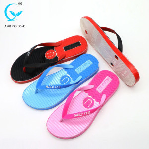 Plastic indoor shoes new design ladies fashion flip flop luxurious sandal
