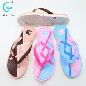 2018 women plastic shoes indoor chappal flip flop new design eva wedge sandals