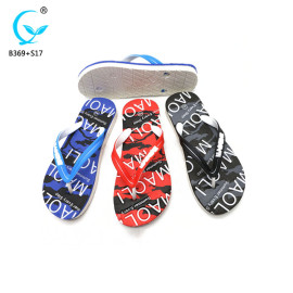 Personalized bedroom slippers wholesale shoes flip flop mens pvc sandals