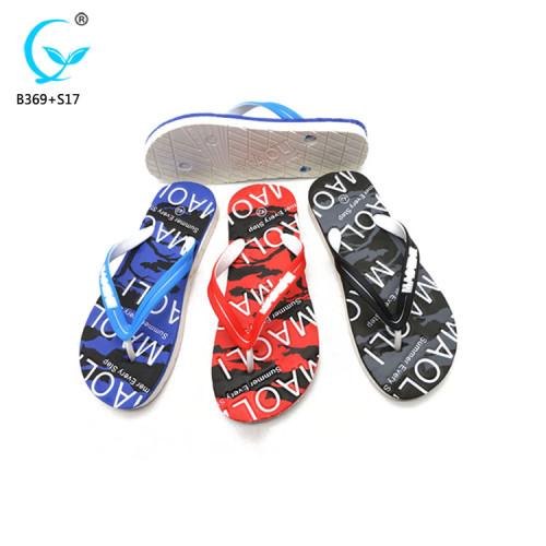Personalized bedroom slippers wholesale shoes flip flop mens pvc sandals