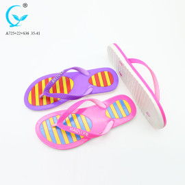 New style pvc flip flops chappal factory slippers ladies shoes and sandals
