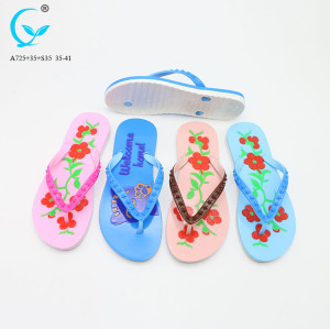 Fancy chappal slippers nature walk shoes women lady sandal flip flop