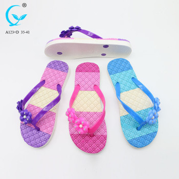 Factory waterproof shoes fancy flat slipper ladies sandals for women