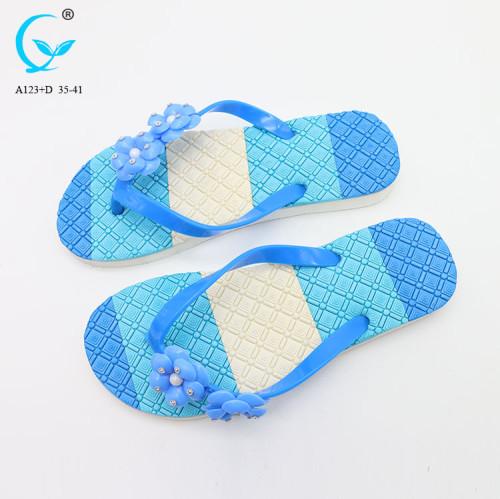 Factory waterproof shoes fancy flat slipper ladies sandals for women