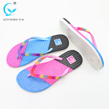 Chappals china pvc shoes and sandals fancy flat slipper ladies sandal
