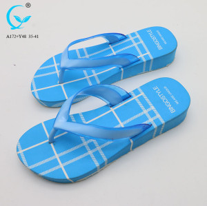 Sexy ladies chappal transparent pvc beach slippers women sandal manufacturers
