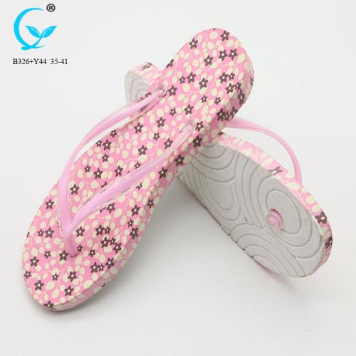 2018 factory price fashion best ladies flip flop pvc nude sandal women slippers