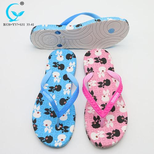 Footwear best ladies shoes logo slippers pvc flip flop beach sandal women