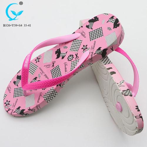 PVC nude breathable beach sandals best ladies flip flop sandal women