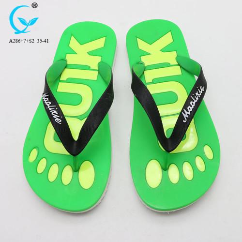 Slippers from china custom private label slide sandals cheap women sport flip flops