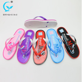 Ladies pvc chappal flip flops girls pvc slipper sandals beach women 2018