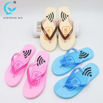 Female fashion summer beach slippers strap slip-ons eva flat sandals