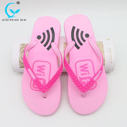 Female fashion summer beach slippers strap slip-ons eva flat sandals