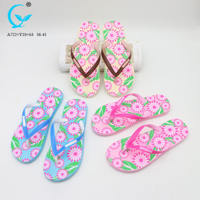 Factory summer ladies flat chappal barefoot sandals beach wedge flipflops