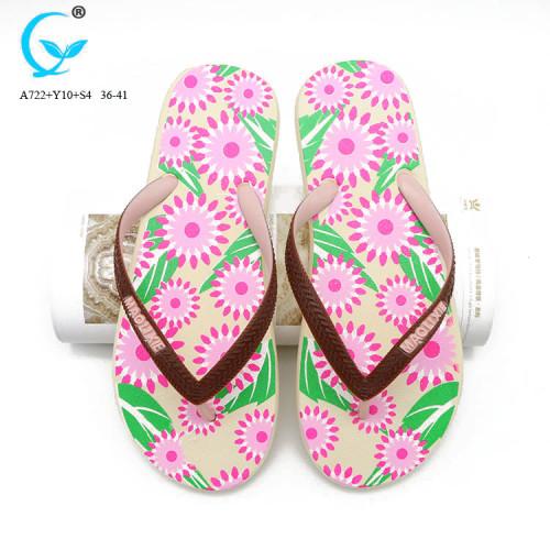 Factory summer ladies flat chappal barefoot sandals beach wedge flipflops