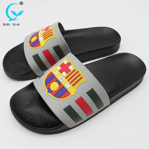 Glass flip flop for adult nude men summer trendy slipper slides men sandals