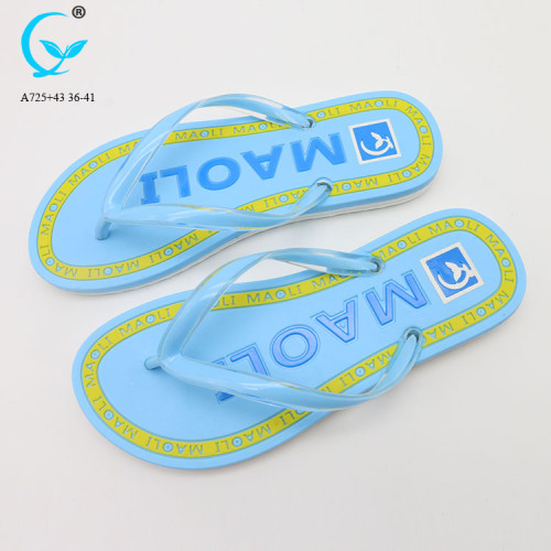 Arch support chappal flip flops lady rubber slippers pvc inflated sandal