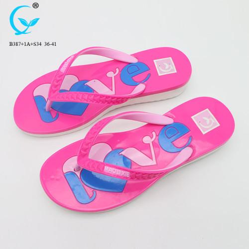 Cheap wholesale arch support flip flop slipper ladies pvc chappal 2018