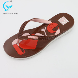 Cheap wholesale arch support flip flop slipper ladies pvc chappal 2018