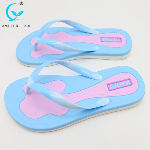 PVC slipper beach sandals made in china cheap wholesale embossed flip flops