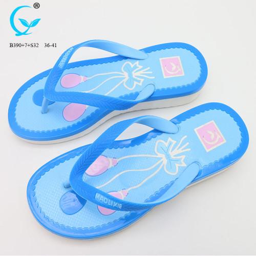 Ladies fancy flat chappal chinese footwear brands antistatic slipper shoes sandals