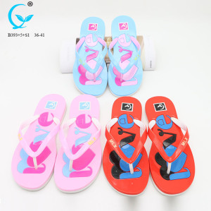 PVC sandals summer flip flops flat shoes women one strap beach slippers