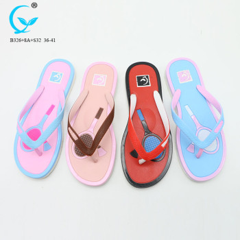 Wholesale slipper factory in guangdong girl nude beach sandal fancy chappals