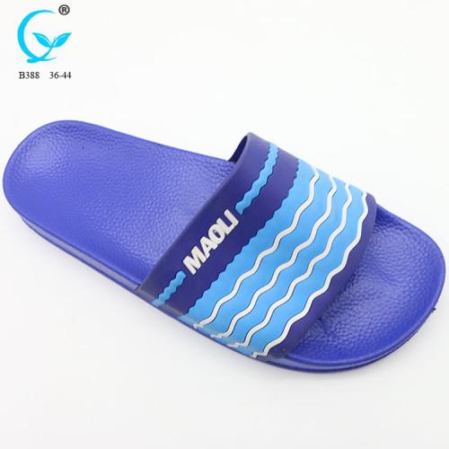 Flat sandals lady rubber flip flops custom printed transfer eva slipper