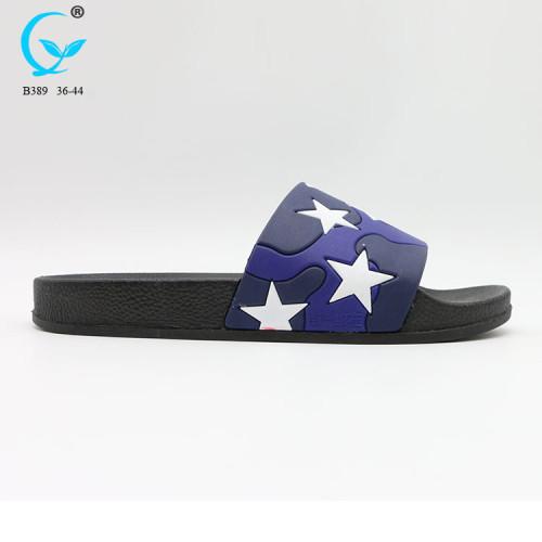 Lady rubber flip flops custom printed beach slipper sandal fancy chappals