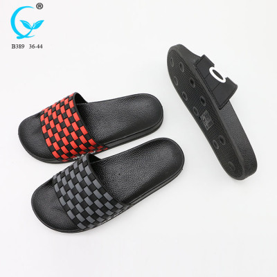 Natural handmade slippers latest design flip flop for men factory flat sandals