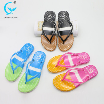 custom dropship slip on slippers best women fancy flat slipper ladies