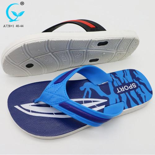 blue men sandals fancy cheap summer slipper latest design sandal for men