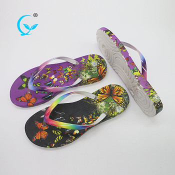 2017 new design colorful promotional anti sweat strap ladies flip flops