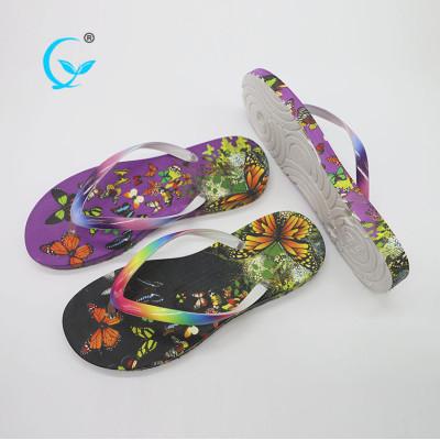 2017 new design colorful promotional anti sweat strap ladies flip flops