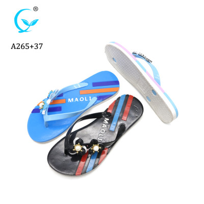 MAOLI Women mix color Flip Flops Flat and non-slip outsole PVC material slippers