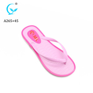 Ladies eva summer beach sandals with sollid plain printing, women pvc slippers and flip flops