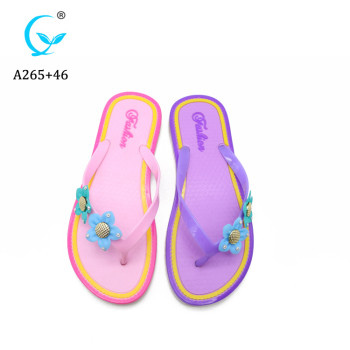 2019 high quality pvc flower fancy plain plastic flip-flops slipper women slipper shoes