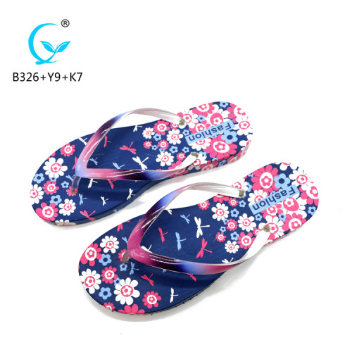2018 customized summer footwear for lady sandals fancy slippers