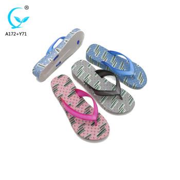 2018 summer beach slippers for women cheap wholesale rubber flip flops