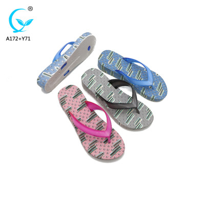 2018 summer beach slippers for women cheap wholesale rubber flip flops