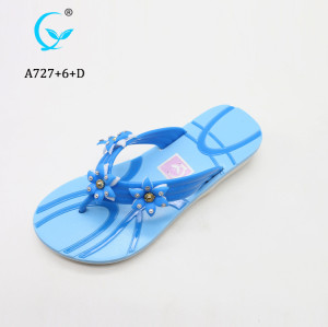 Soft fashionable beach flip flop comfortable flower summer sandals/slipper