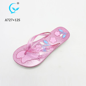 China Slippers Plastic Sandals New Mould Glittering ladies Flip Flops shoes
