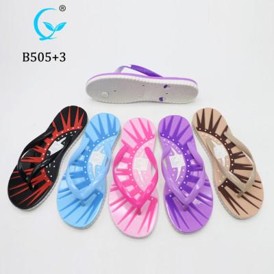 New products soft rubber pvc strap air blowing felt flip flop women slipper sandal