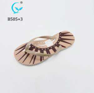 New products soft rubber pvc strap air blowing felt flip flop women slipper sandal